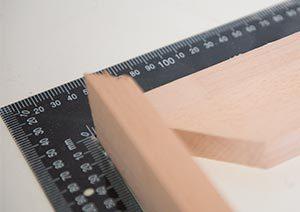 midiendo madera