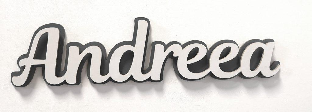 Letrero nombre blanco con fondo